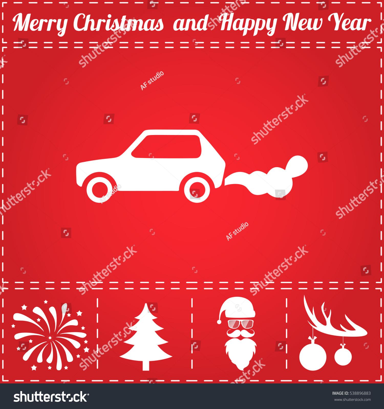 Car emits carbon dioxide flat symbol stock illustration 538896883 car emits carbon dioxide flat symbol and bonus icons for new year santa claus buycottarizona Images