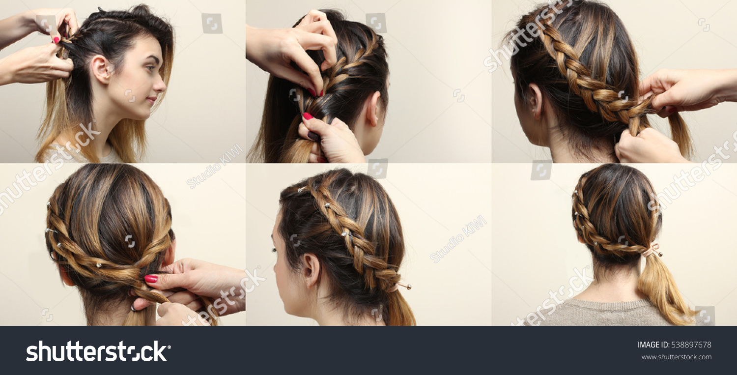 Process Weaving Braid Boho Style Hairstyle Stock Photo Edit Now