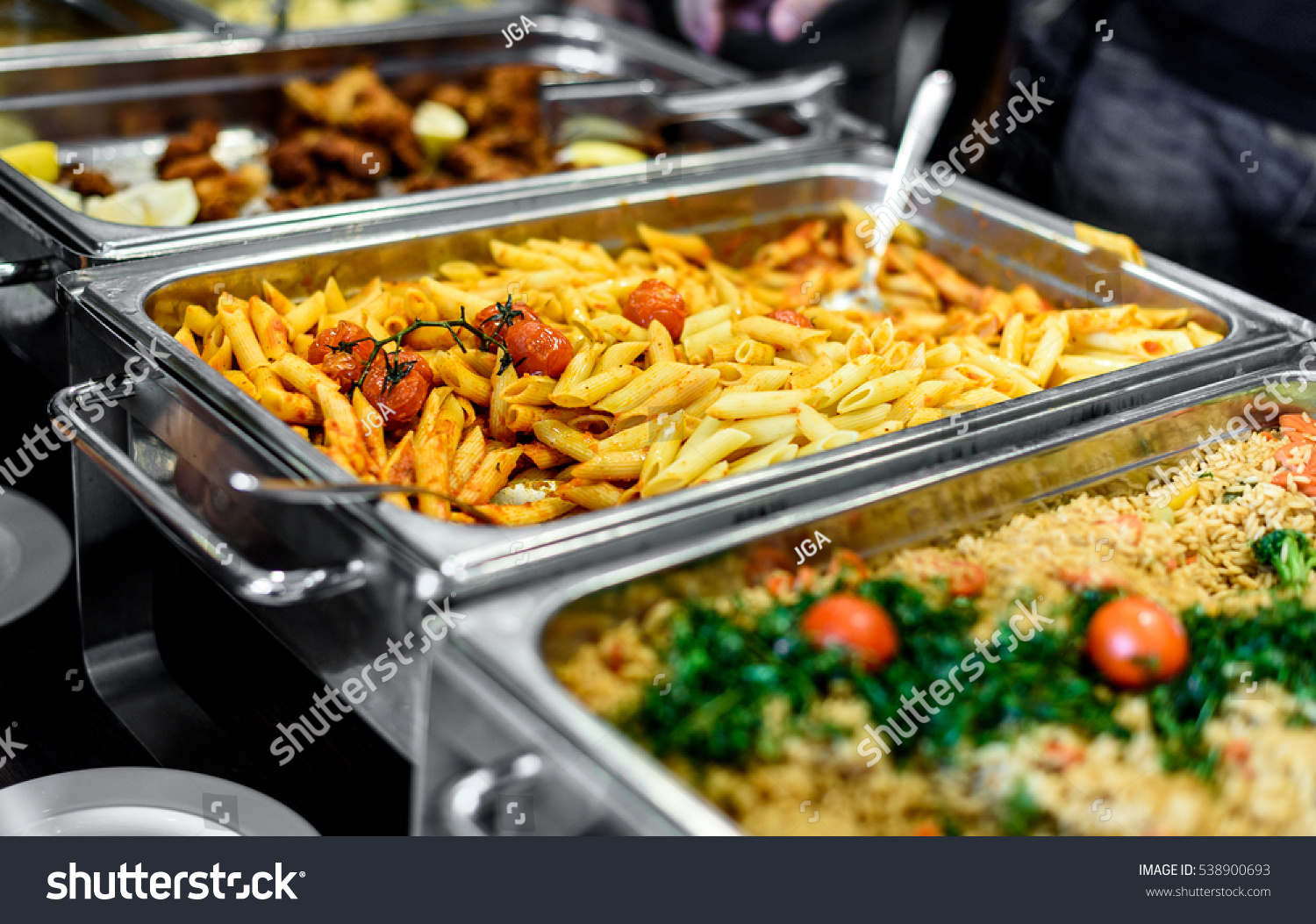 cuisine culinary buffet dinner catering dining stock photo 538900693 shutterstock. Black Bedroom Furniture Sets. Home Design Ideas