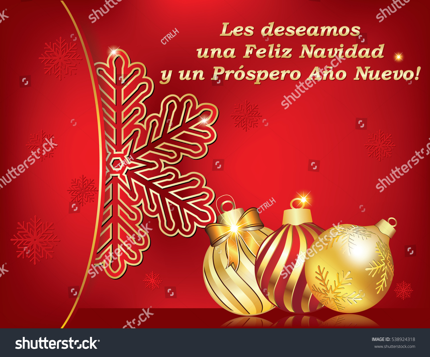 Spanish seasons greetings christmas new year stock illustration spanish seasons greetings christmas new year card les deseamos feliz navidad y feliz kristyandbryce Images