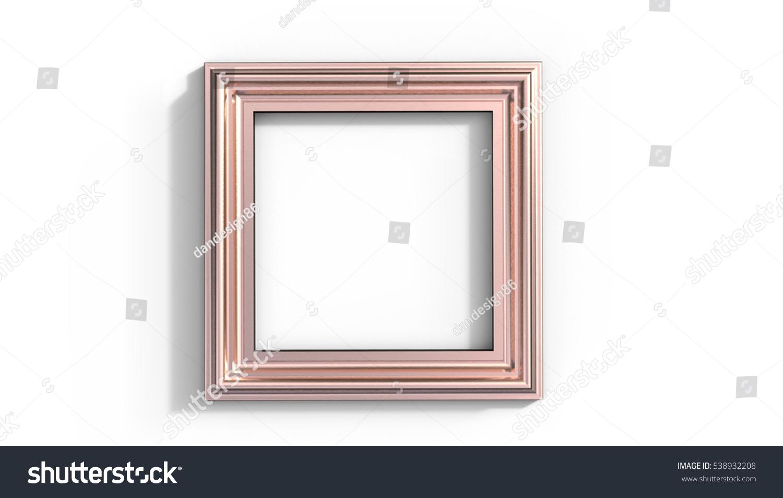 Copper Frame 3 D Illustration On White Stock Illustration 538932208 ...