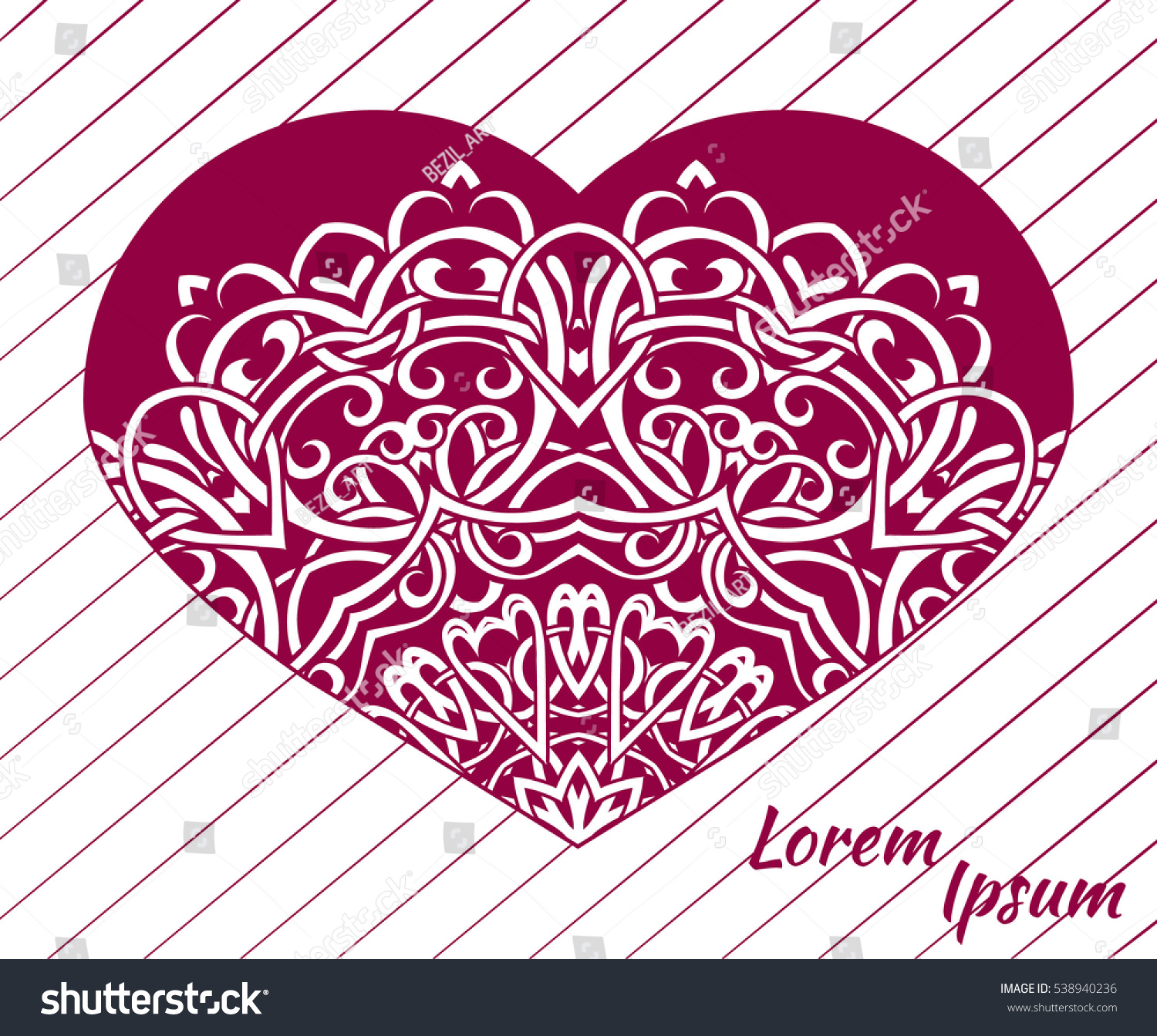Holiday Postcard Frame Your Greetings Valentines Stock Vector ...