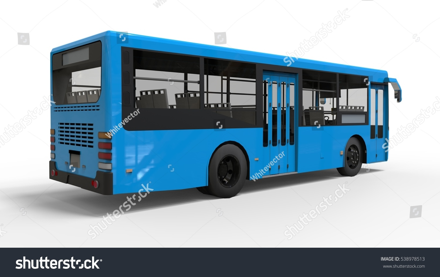 White bluebird bus