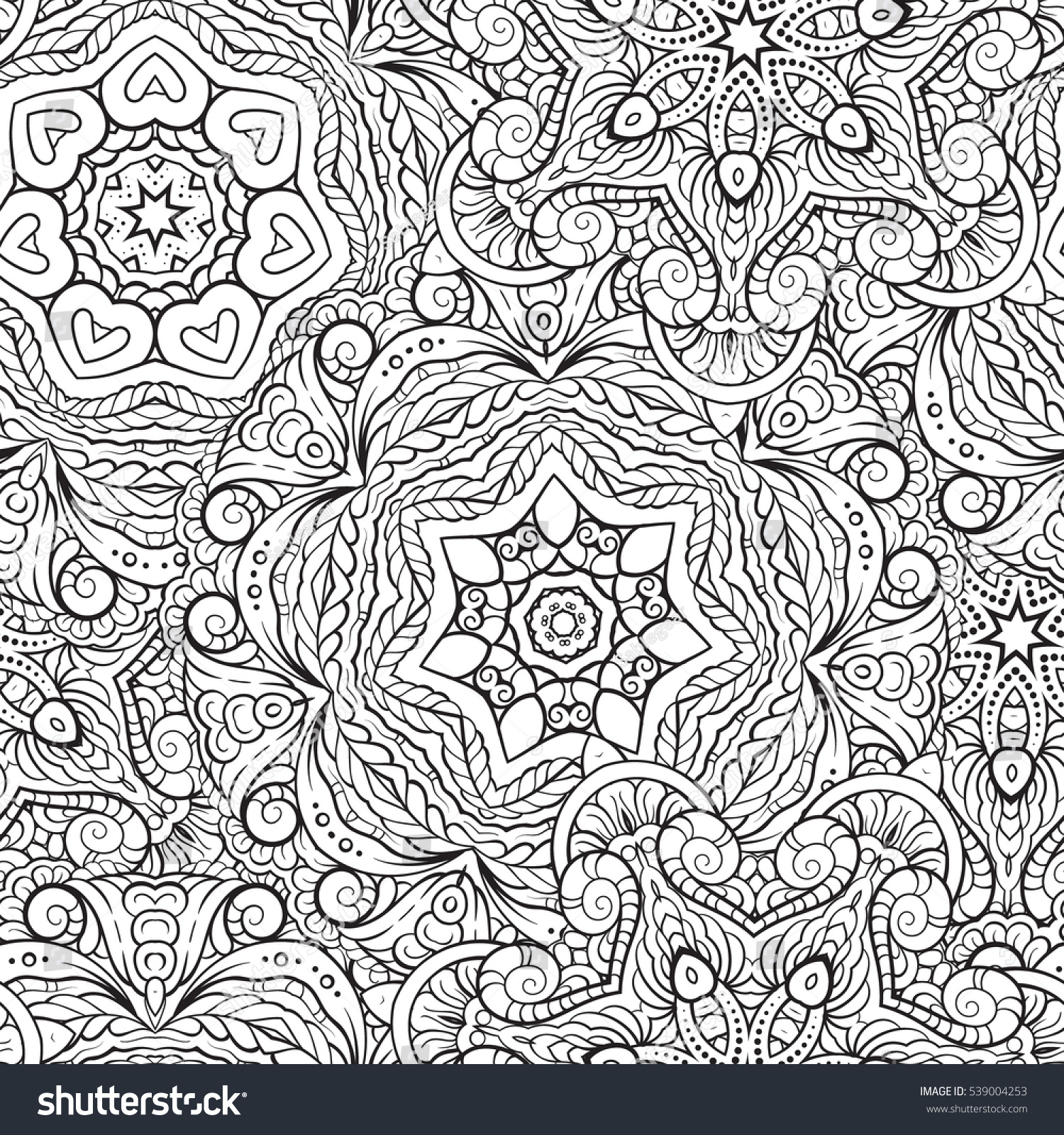 Seamless Abstract Black and White Tribal Pattern Hand Drawn Ethnic Texture Flight of Imagination