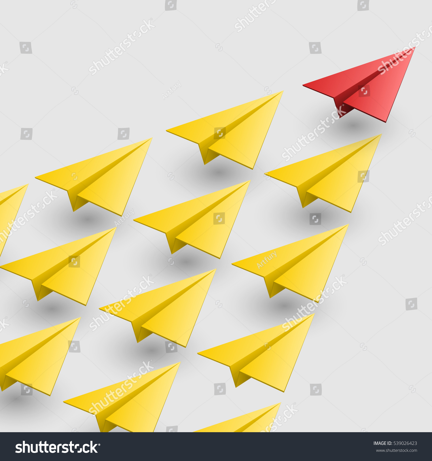 Leader of aircraft guidance Vector illustration