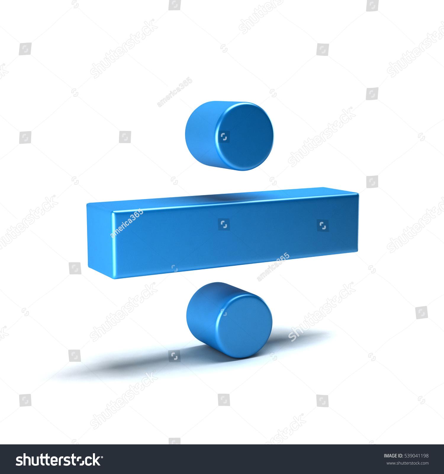 Divide Math Symbol 3 D Rendering Illustration Stock Illustration