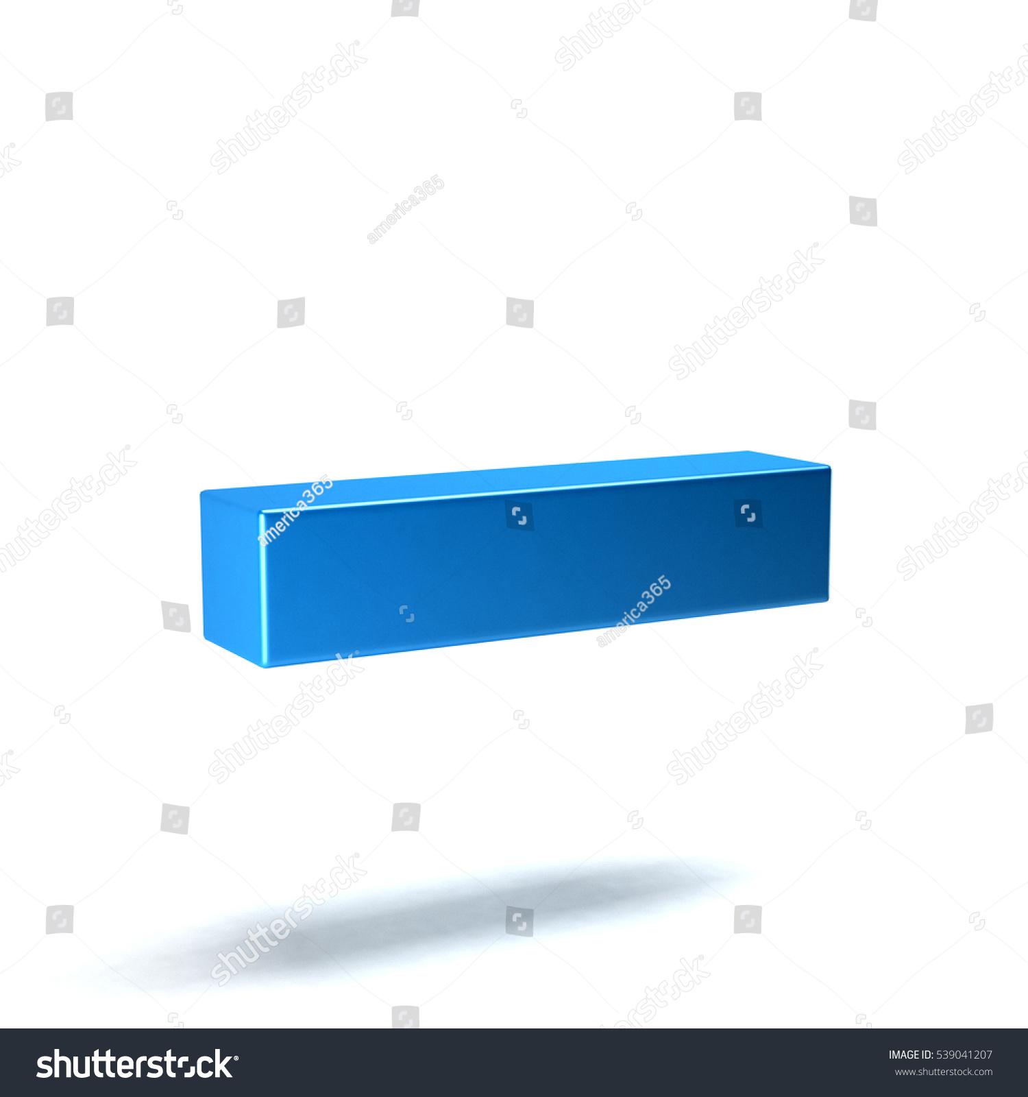 Minus Math Symbol 3 D Rendering Illustration Stock Illustration