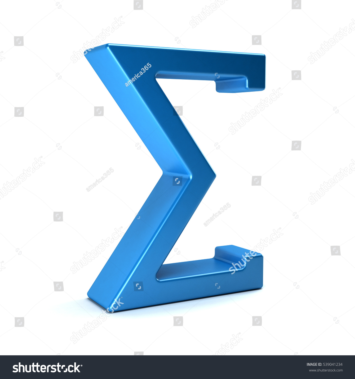 Sigma Summation Symbol 3 D Rendering Illustration Stock Illustration