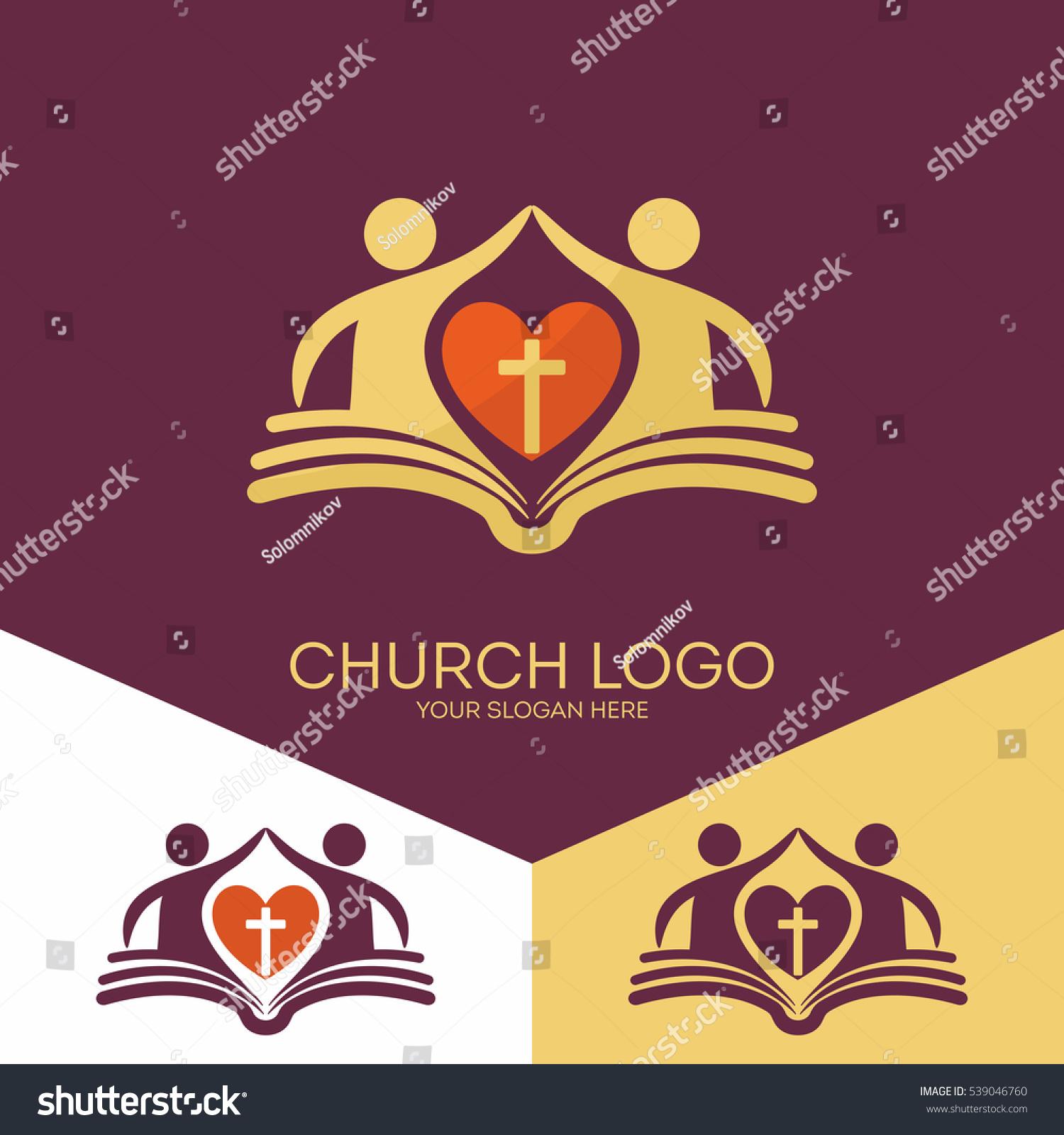 Church Logo Christian Symbols Church Based Stock Vector Royalty
