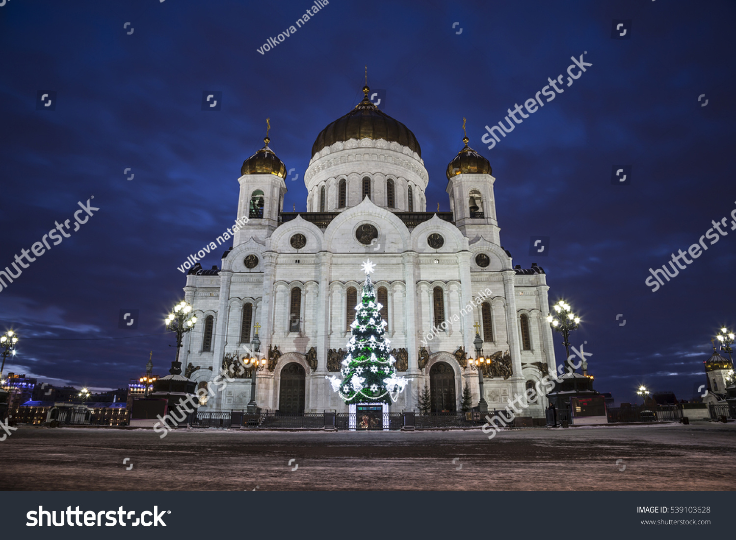 Christmas tree in the Cathedral of Christ the Savior 2019 83