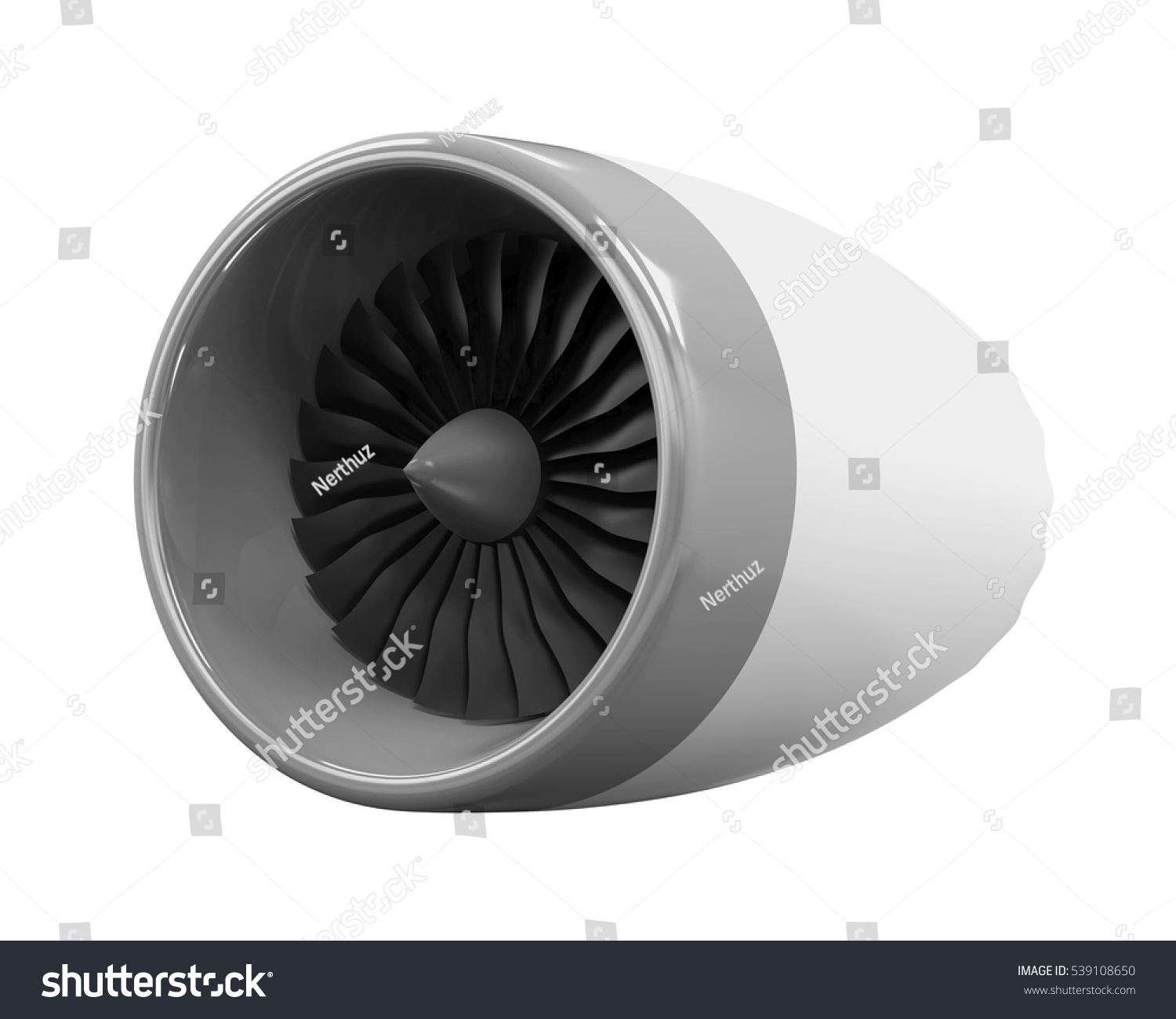 Jet Engine Isolated 3d Rendering Stock Illustration