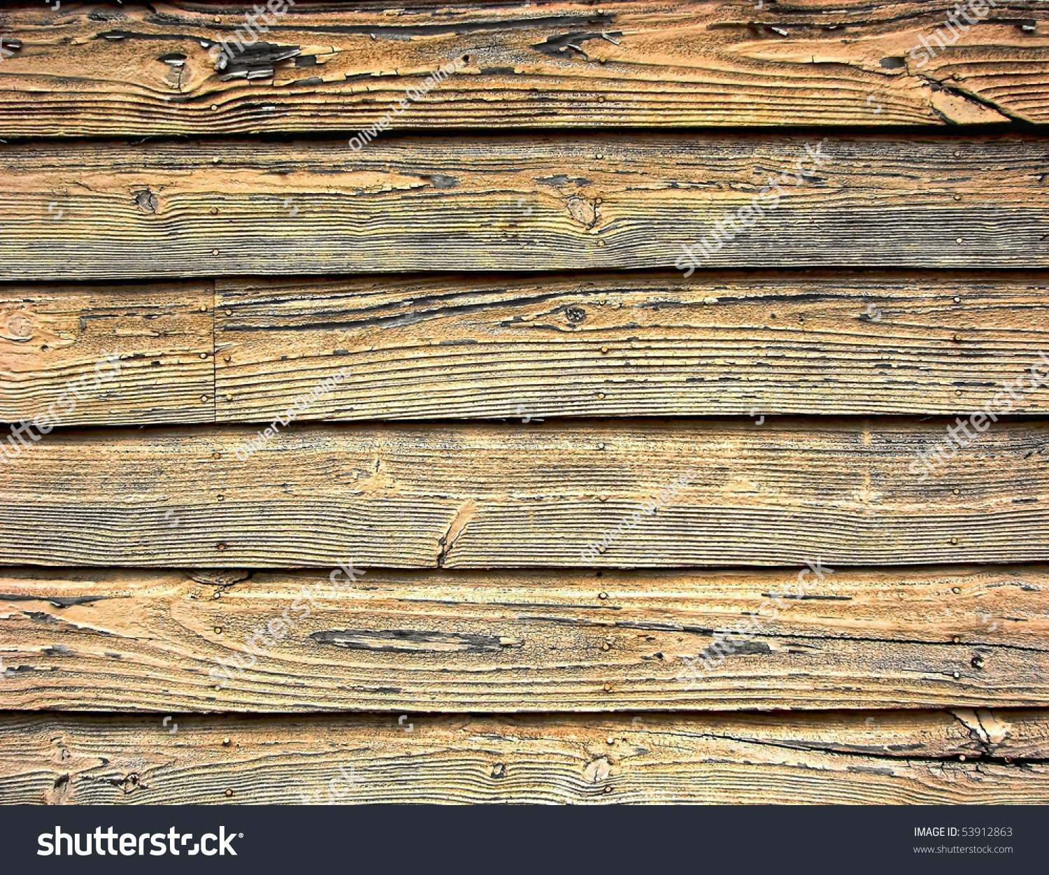Distressed Old Barn Wood Clapboard Background On A
