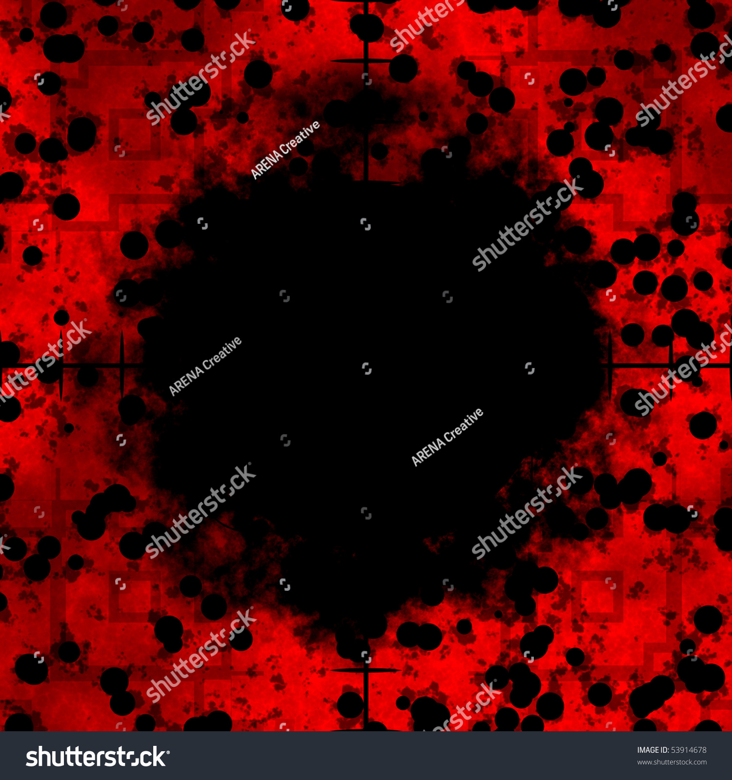 Red cells frame or border with sniper rifle crosshairs for Html cell border