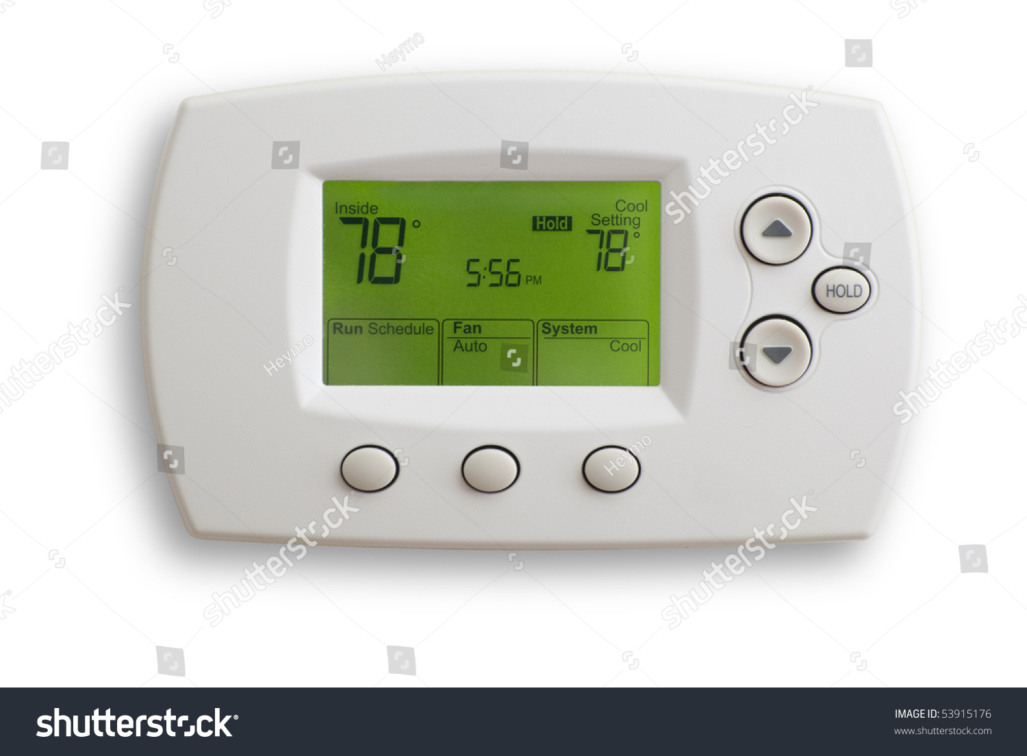 Digital Thermostat Set 78 Degrees Fahrenheit Stock Photo Edit Now To Saved With Clipping Path Isolated On White
