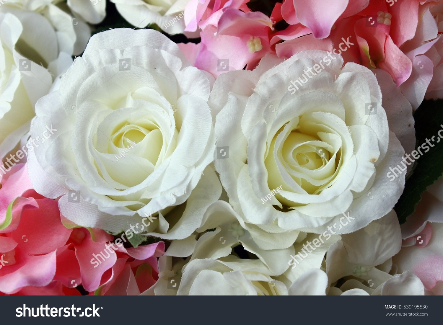 Bridal Roses Wedding Decorations In Colors Full White And Pink