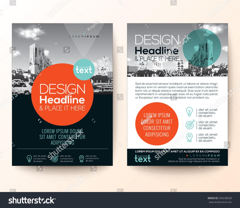 Poster flyer pamphlet brochure cover design stock vector for Brochure cover design