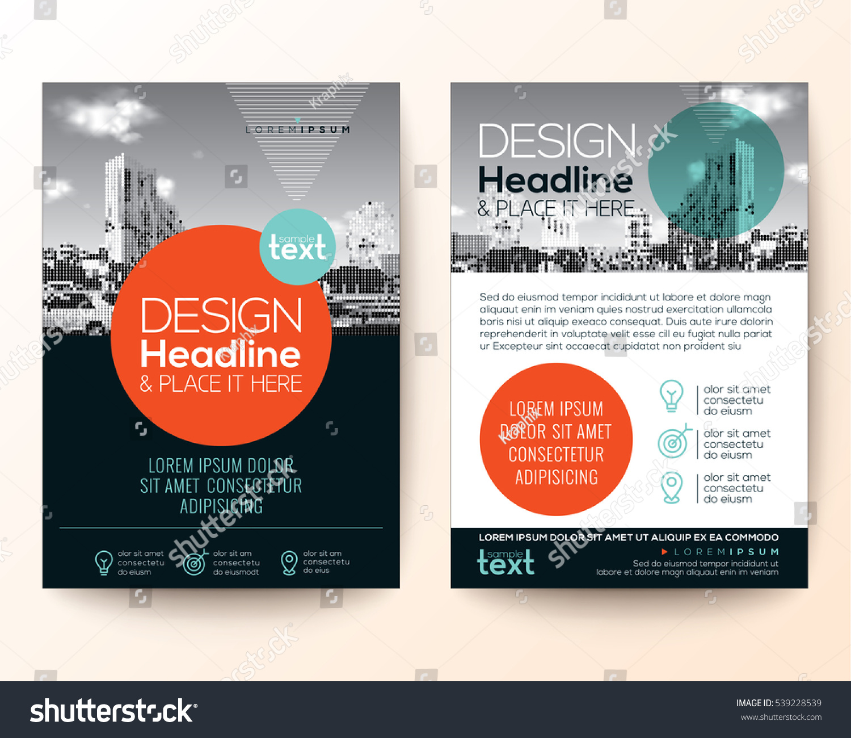 brochure cover design - poster flyer pamphlet brochure cover design stock vector