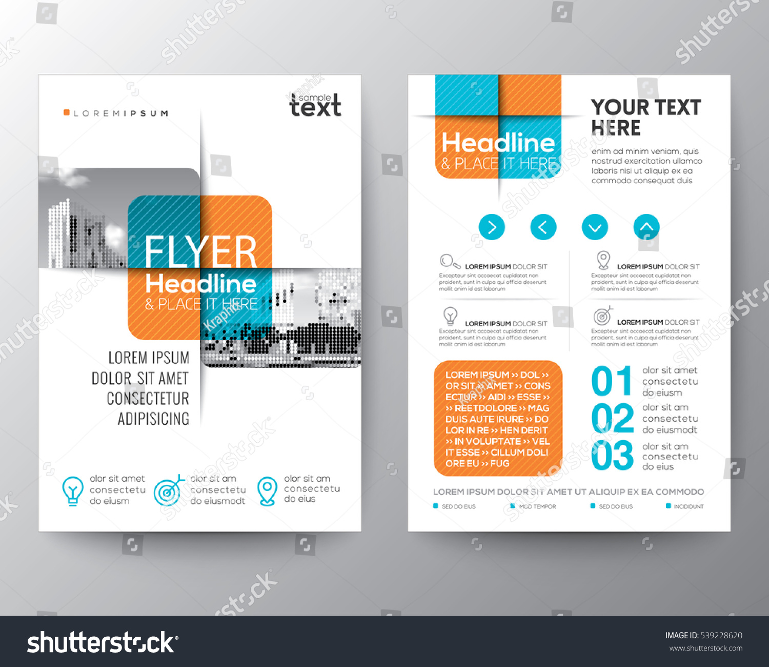 Poster design vector graphics - Cross Square Graphic Element Brochure Cover Flyer Poster Design Layout Vector Template In A4 Size