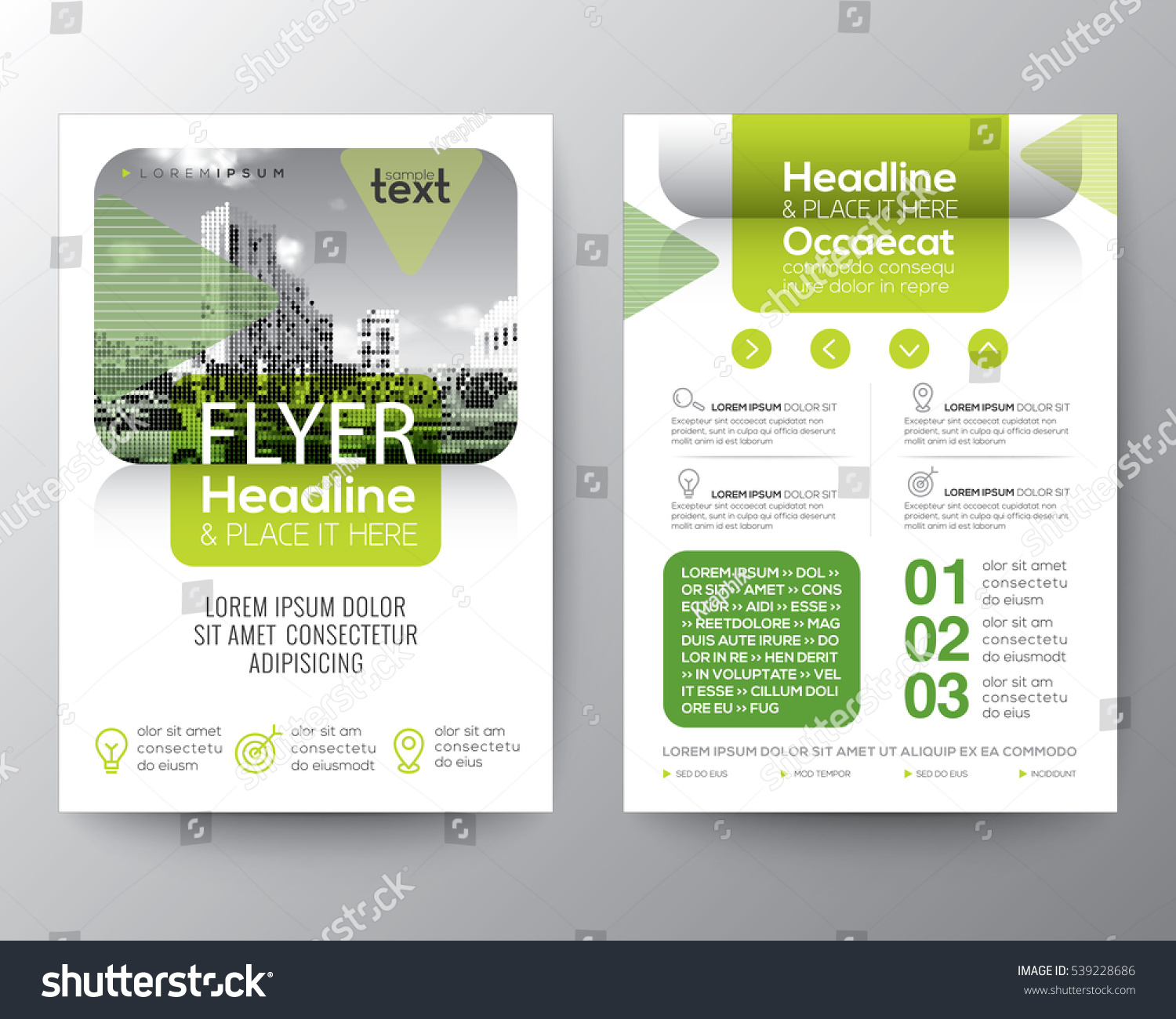Poster design layout - Green Brochure Cover Flyer Poster Design Layout Vector Template In A4 Size