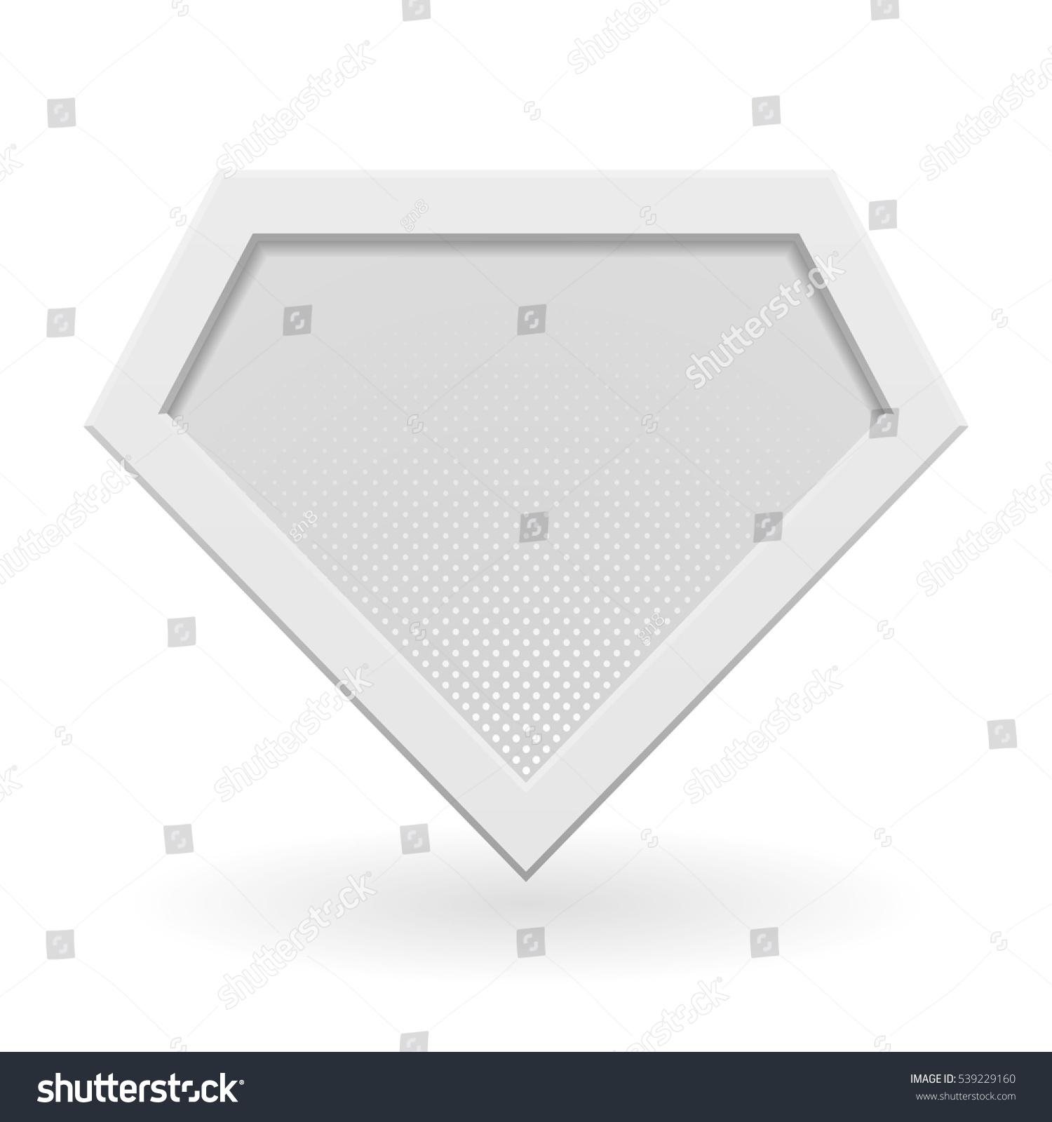 White Superhero Logo Template Halftone Dots Stock Vector Royalty