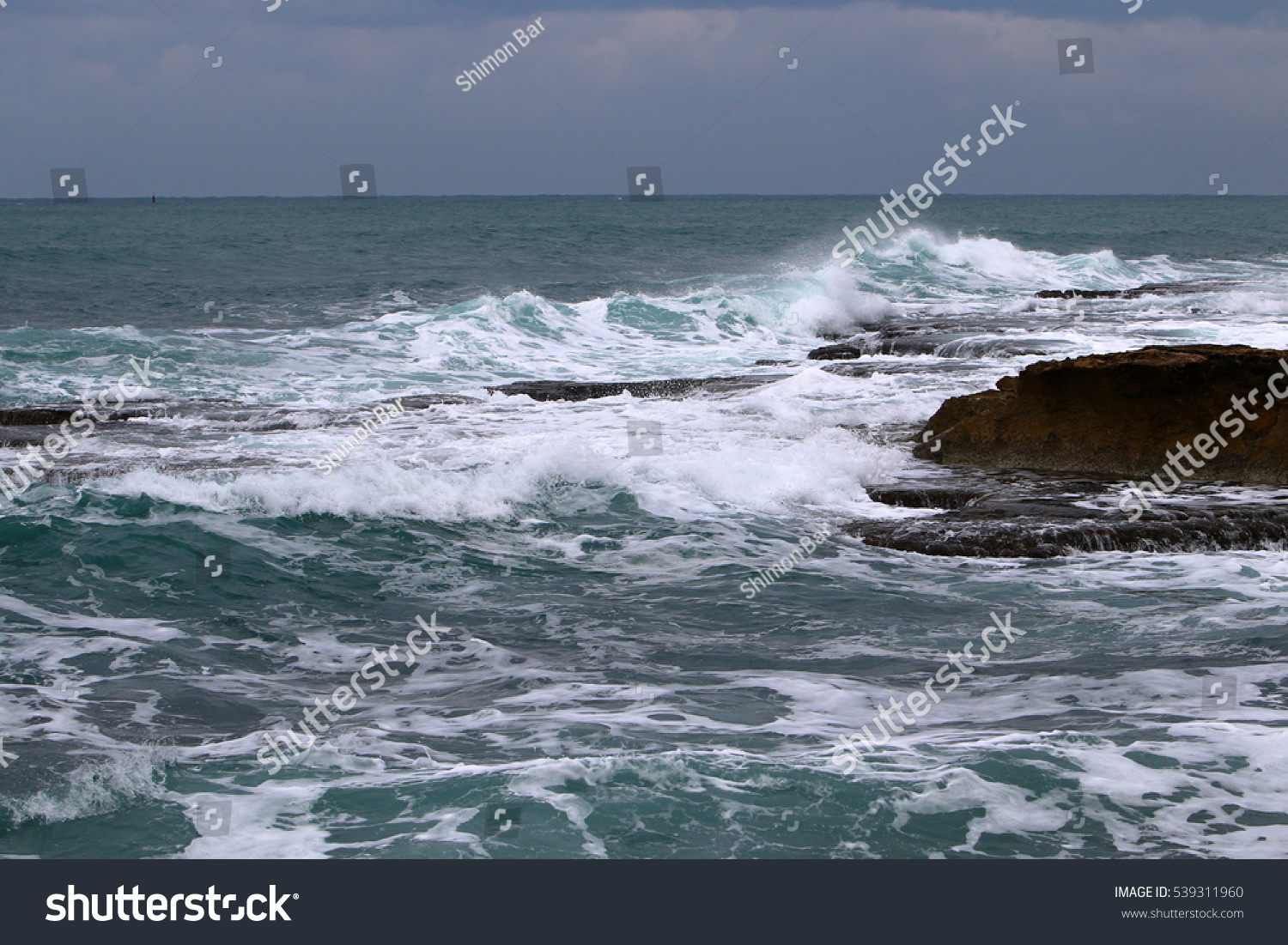 Paint Color Sea Constantly Changing Sea Stock Photo Edit