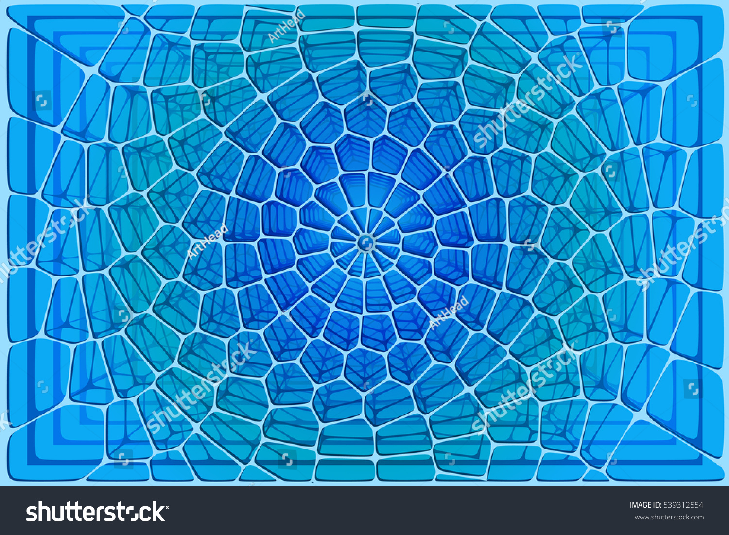 Abstract Tile Composition Ceramic Geometric Shapes Stock Vector ...