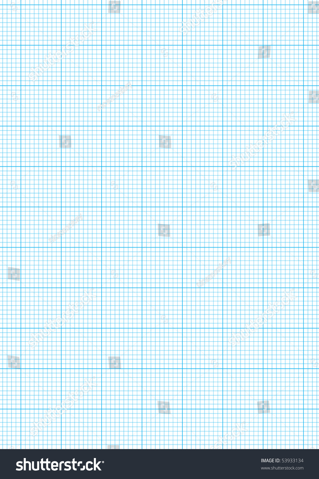 Math Concept With Sheet Of Blue Graph Paper Background