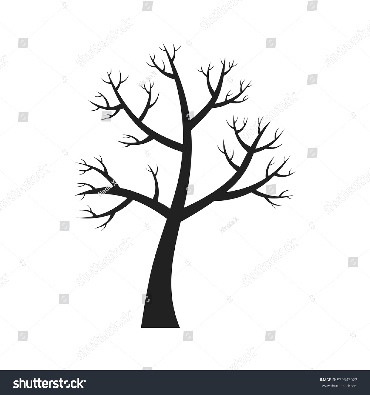 Vector Cartoon Flat Style Isolated Illustration Stock Vector Royalty Free 539343022 Christmas tree in winter forest. https www shutterstock com image vector vector cartoon flat style isolated illustration 539343022