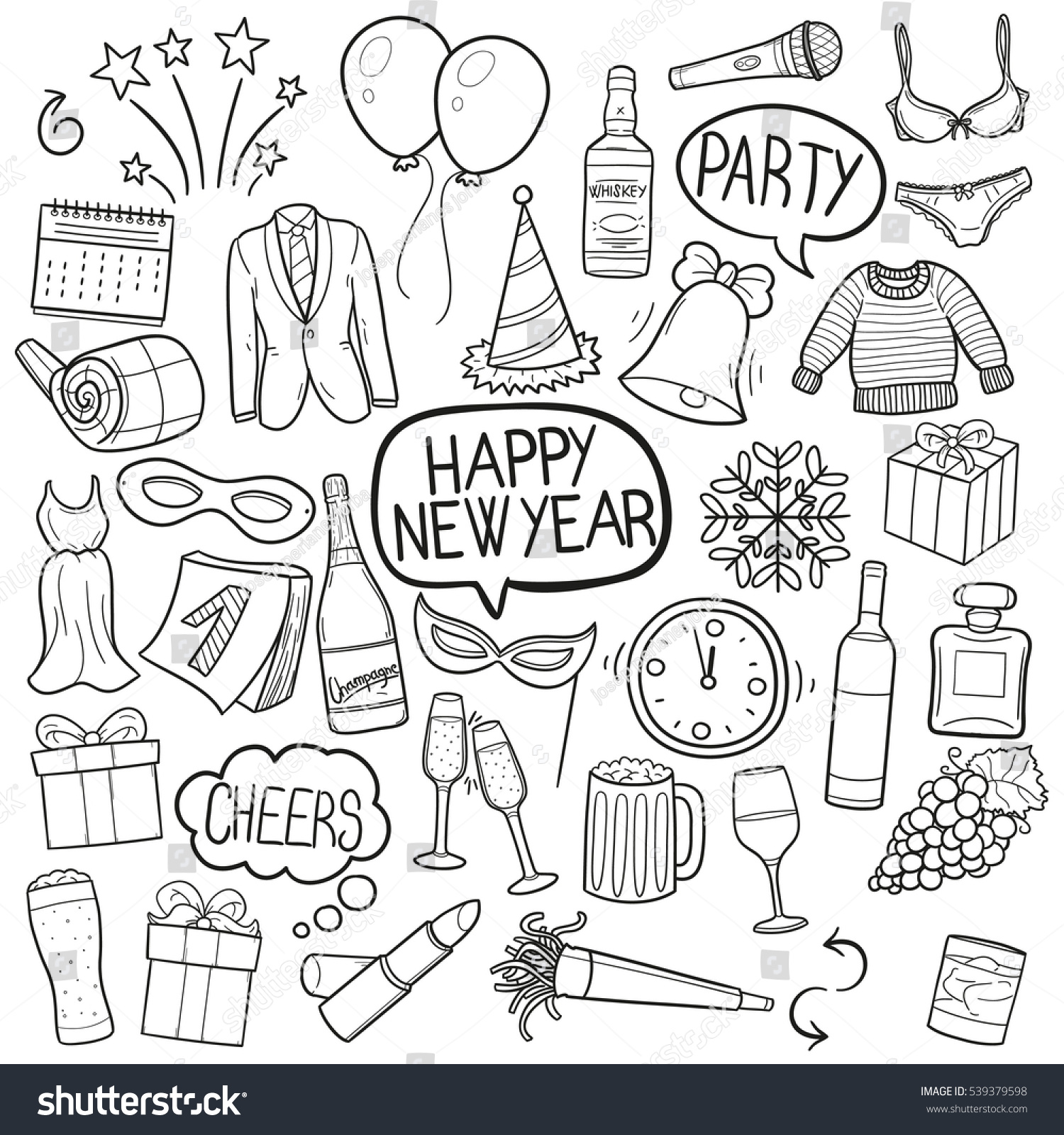 Happy New Year Doodle 31
