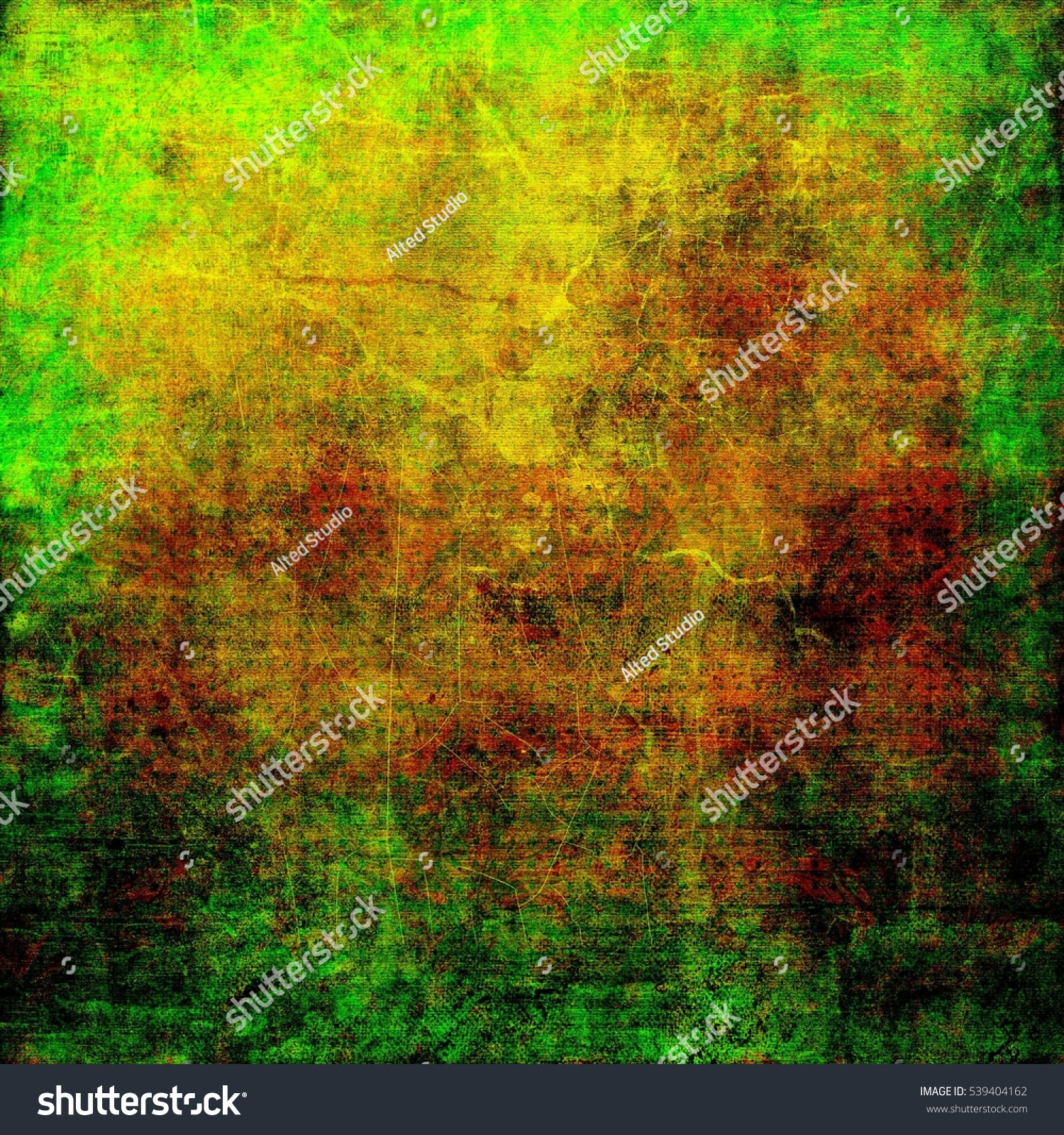 Green Brown Background Abstract Old Grunge Stock Illustration ...