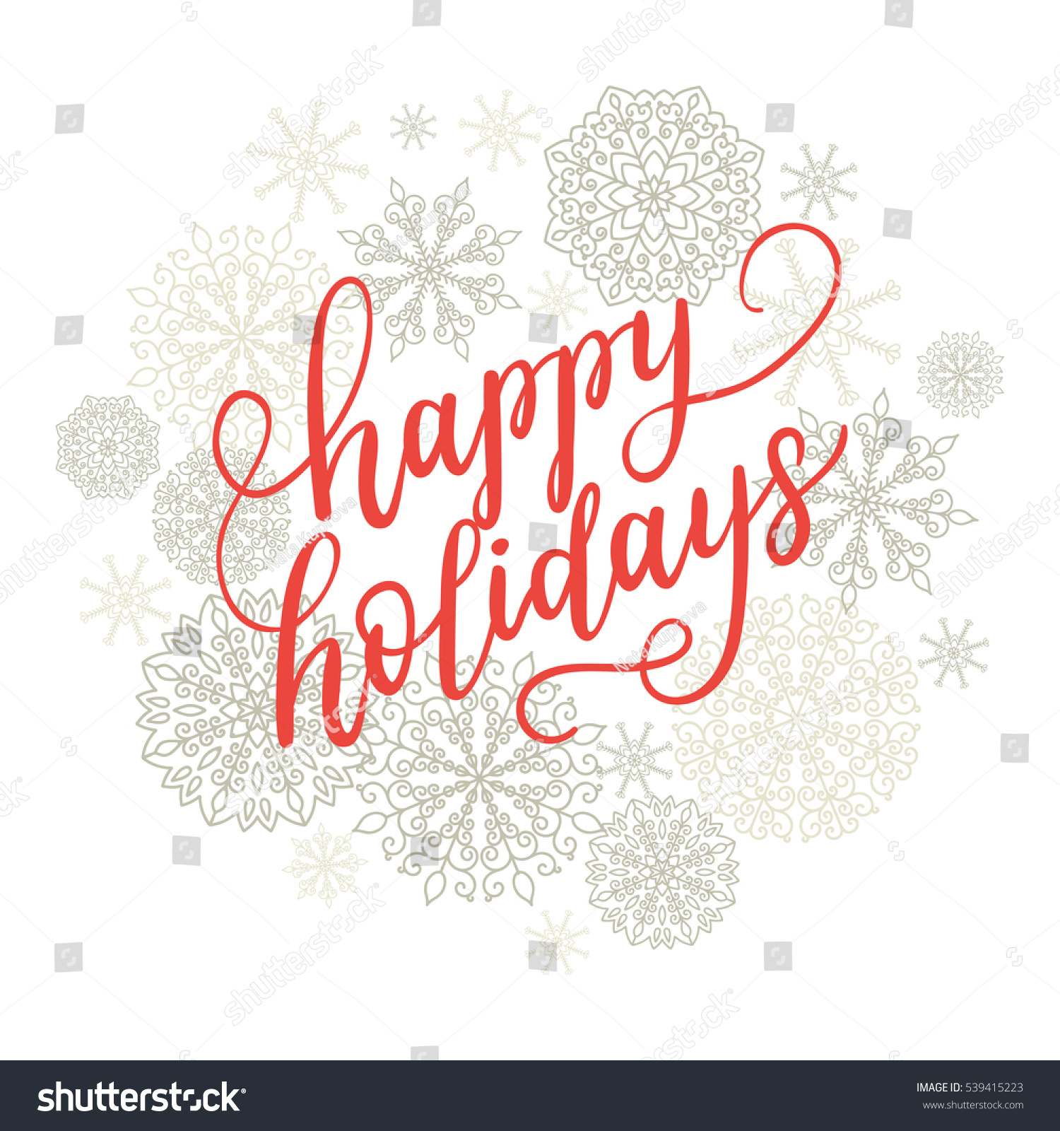 Happy Holidays Greeting Card New Year Stock Vector (Royalty Free ...