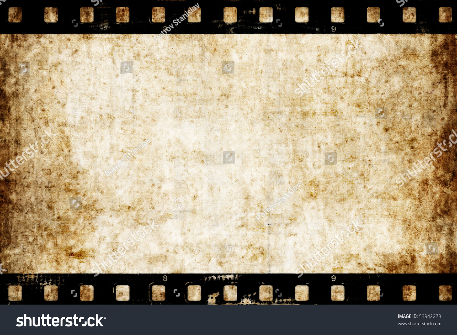 old paper texture with film strip can be used as