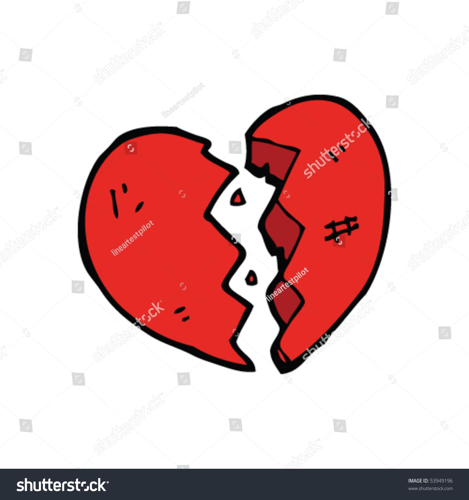 broken heart cartoon stock vector 2018 53949196 shutterstock rh shutterstock com cartoon broken heart images cartoon broken heart video