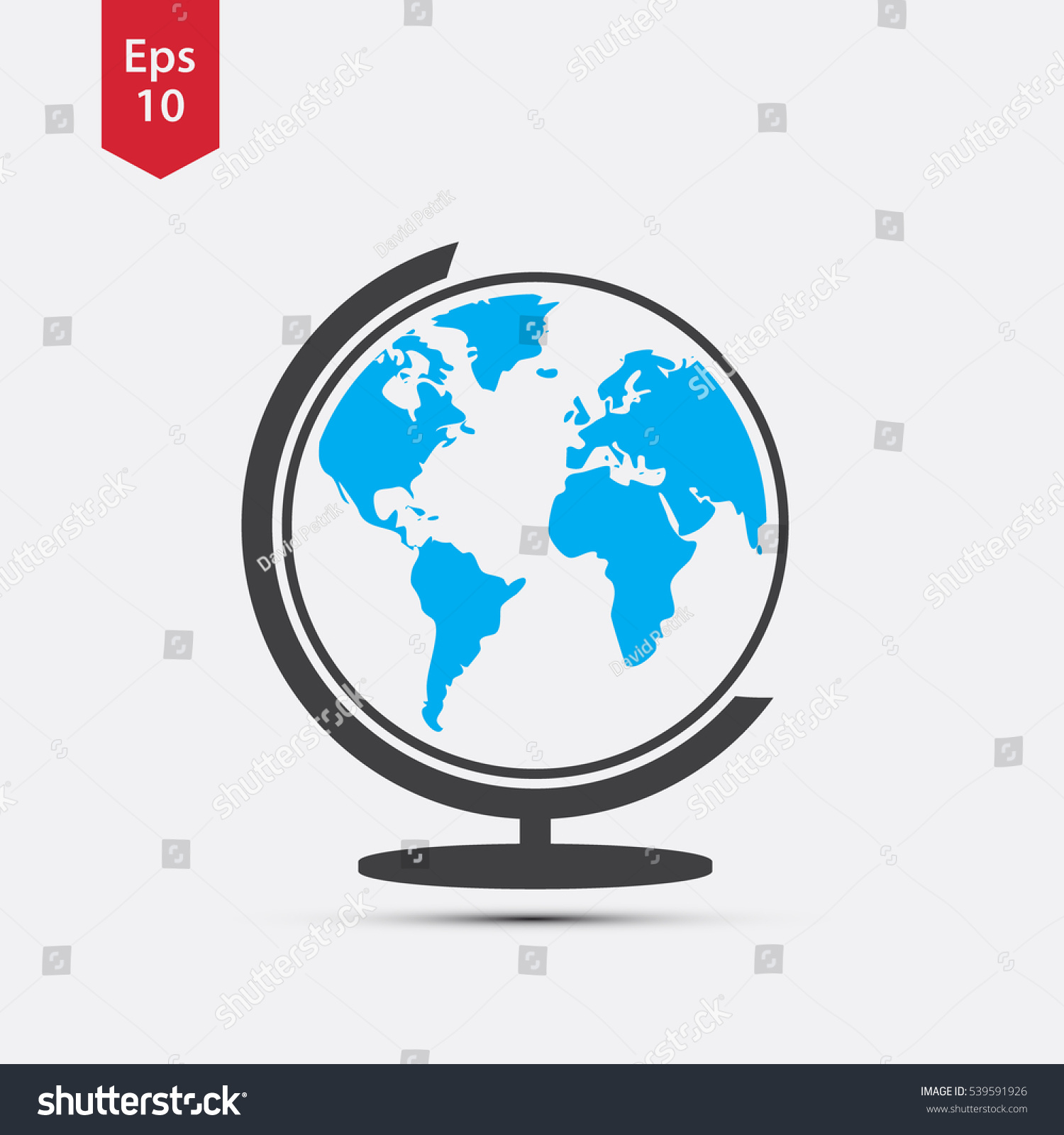 Simple globe icons earth flat sign vectores en stock 539591926 simple globe icons earth flat sign symbol of world map vector illustration gumiabroncs Gallery