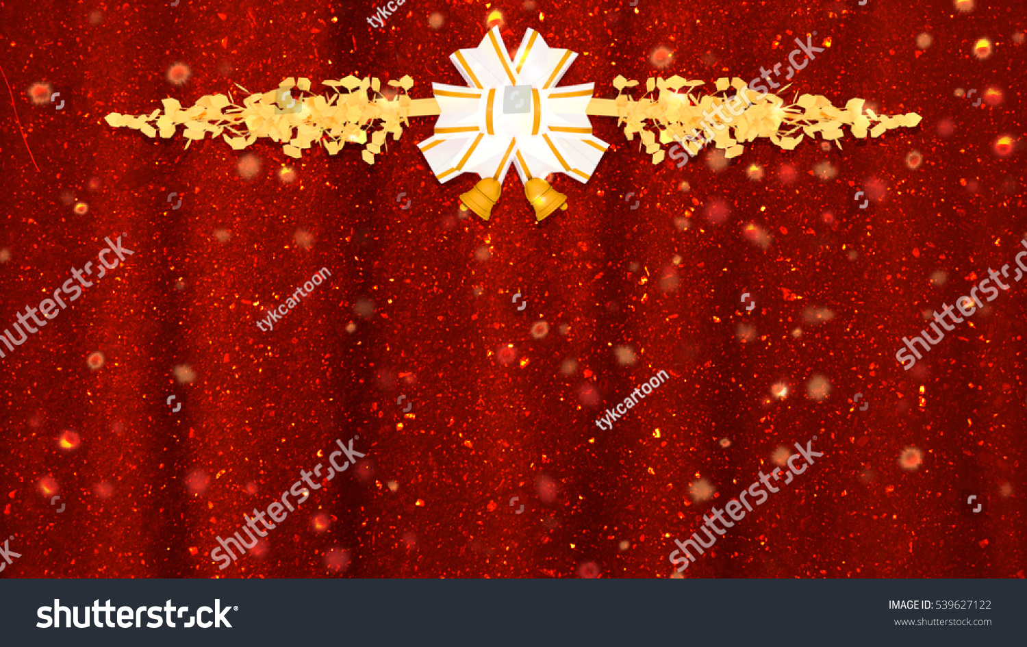 50 Beautiful Merry Christmas And Happy New Year Pictures: 3d Rendering Beautiful Golden Glitter Merry Christmas And