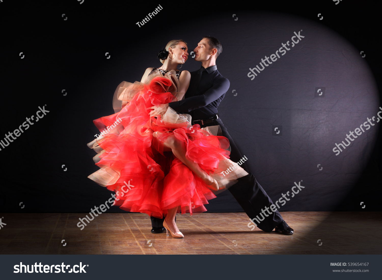 Dancers Ballroom Isolated On Black Background Stock Photo ...