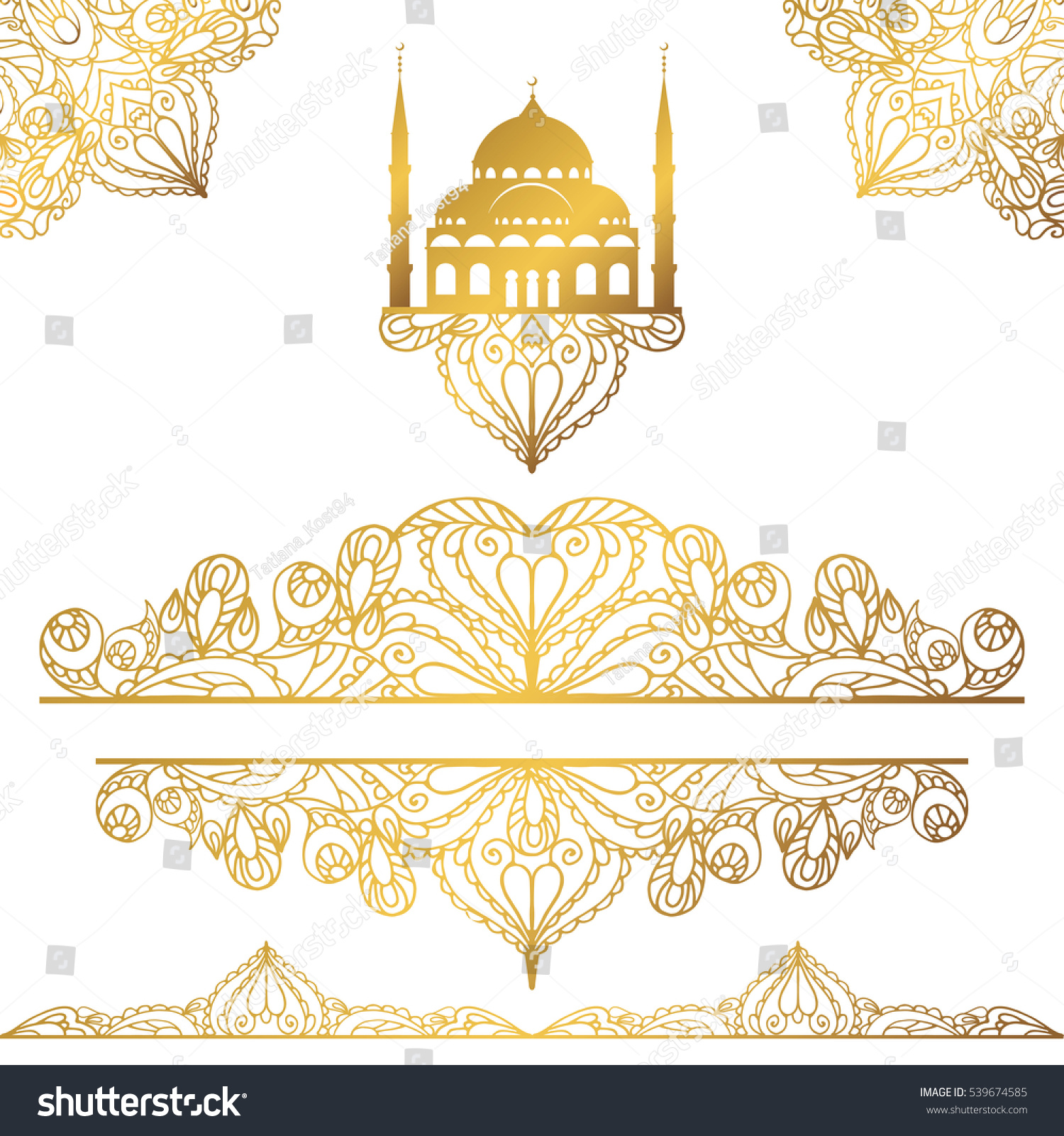 islamicarabic mosqueseamless pattern bordersarabesque decorvector gold stock vector royalty free 539674585 https www shutterstock com image vector islamicarabic mosqueseamless pattern bordersarabesque decor gold 539674585