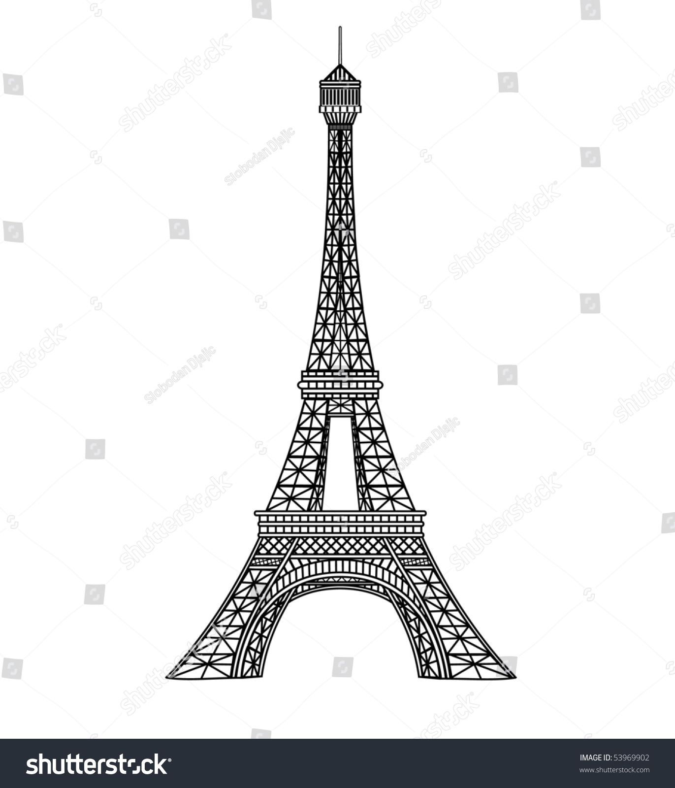 Eiffel tower vector illustration stock vector royalty free eiffel tower vector illustration thecheapjerseys Gallery
