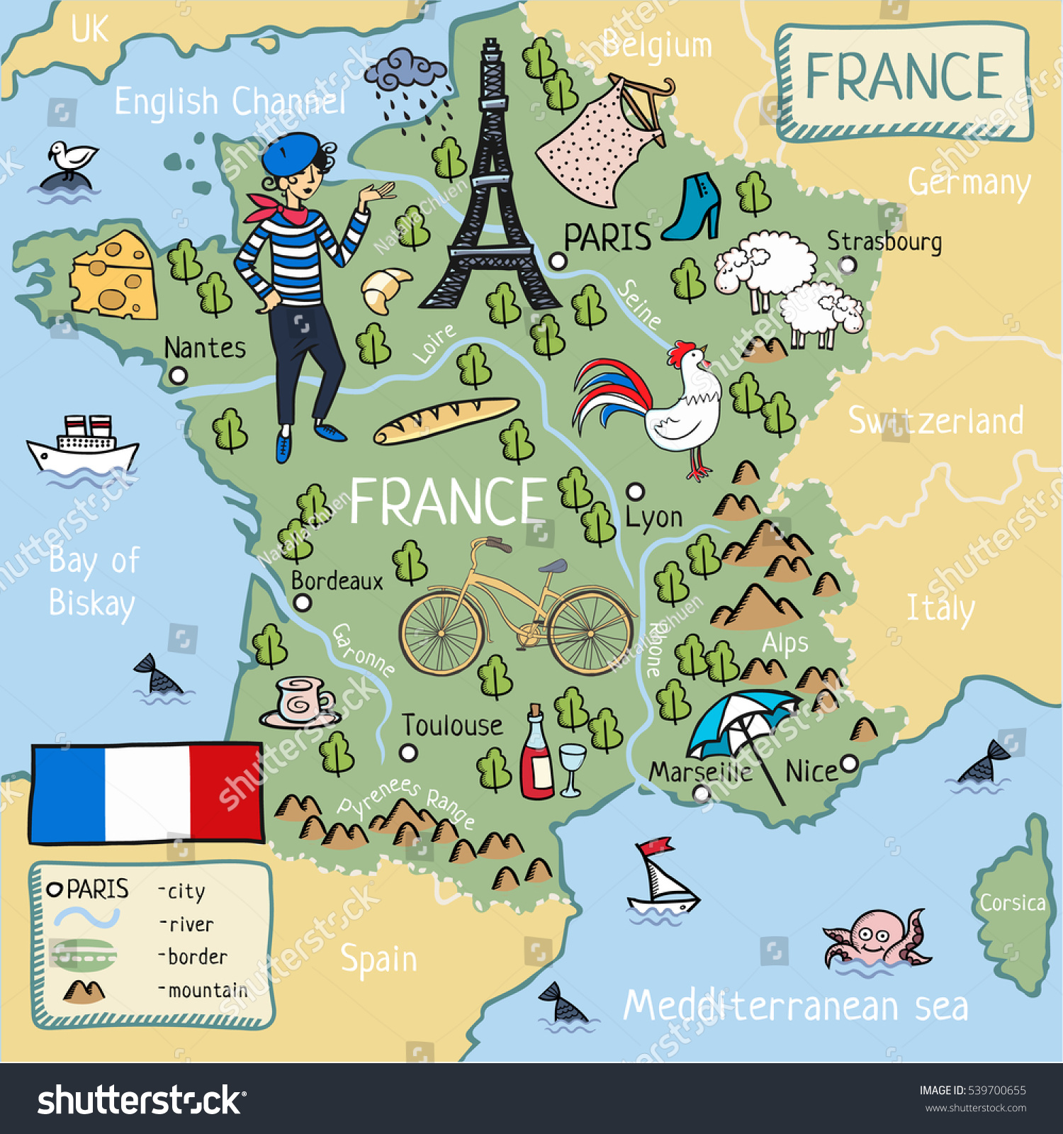 Cartina Francia Tolosa.Cartina Dei Cartoni Animati Della Francia