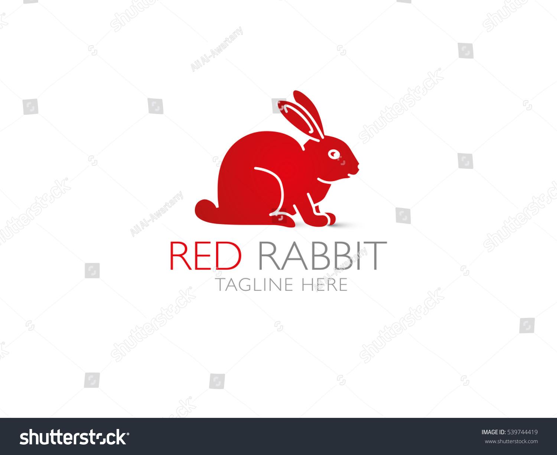 stock-vector-vector-logo-of-rabbit-abstr