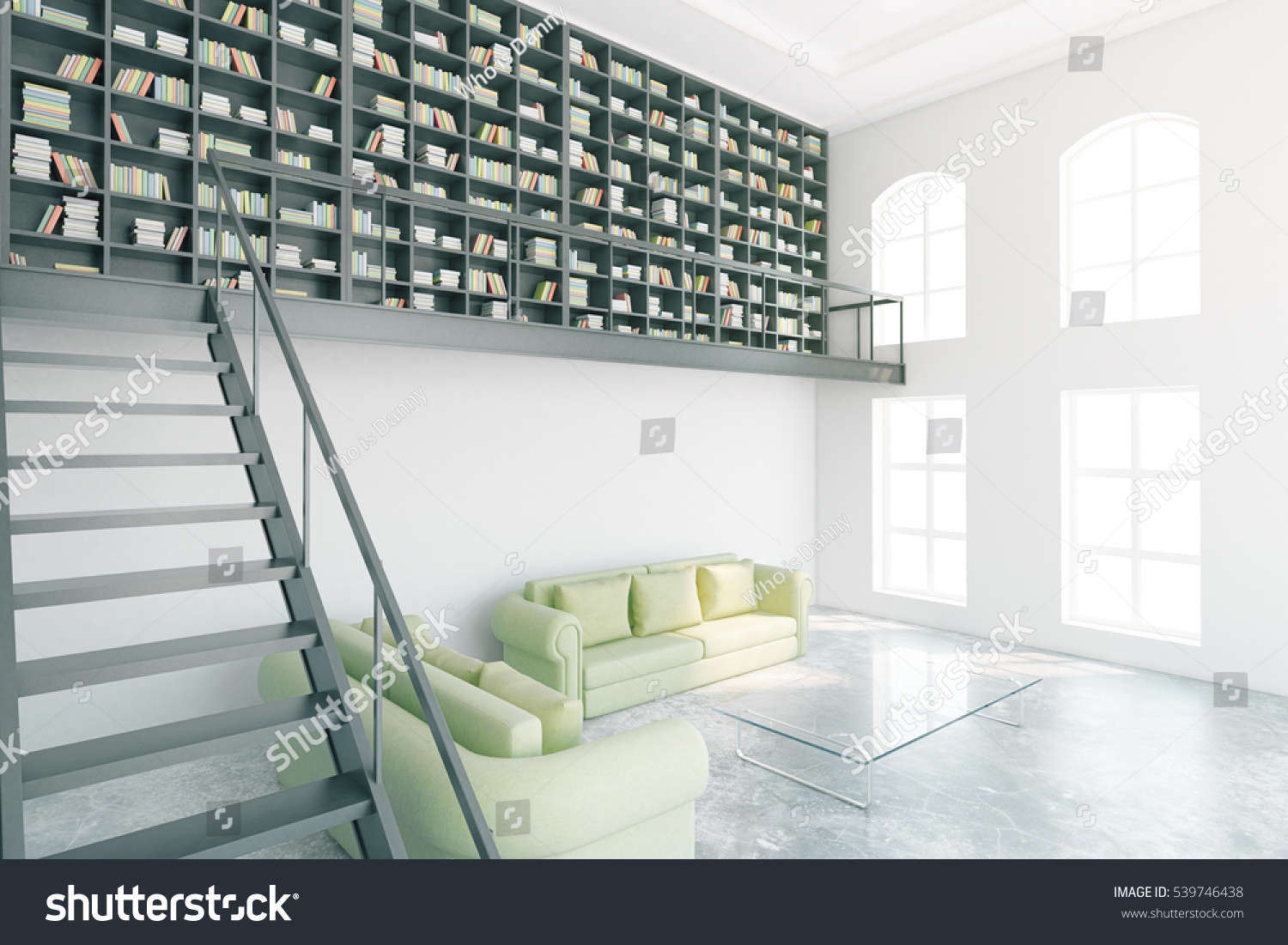 modern library furniture. Modern Library Interior Bookcase Stairs Light Stock Illustration 539746438 - Shutterstock Furniture I