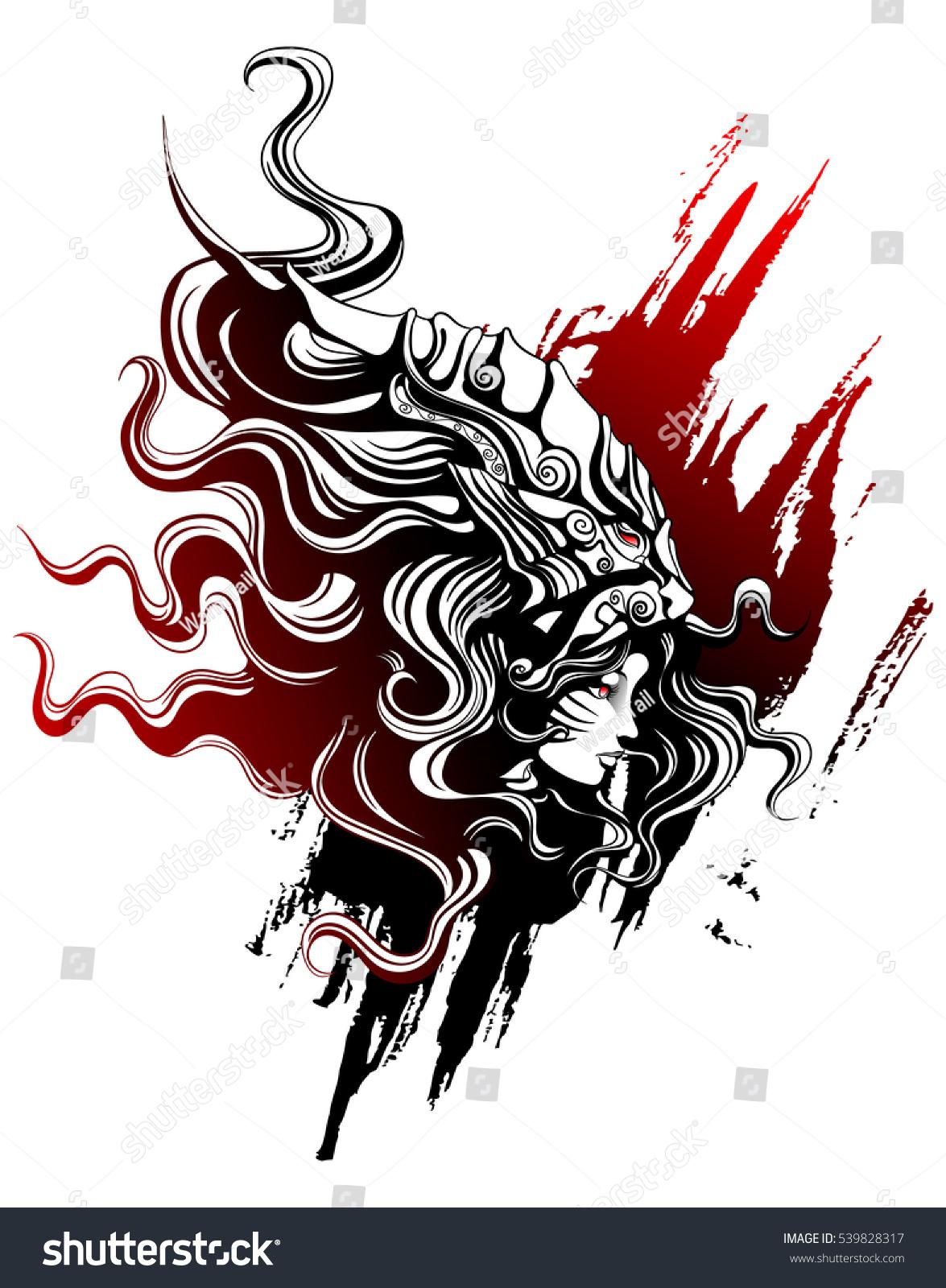 Girl mask lion painted chinese style stock vector 539828317 the girl in the mask the lion painted in the chinese style buycottarizona