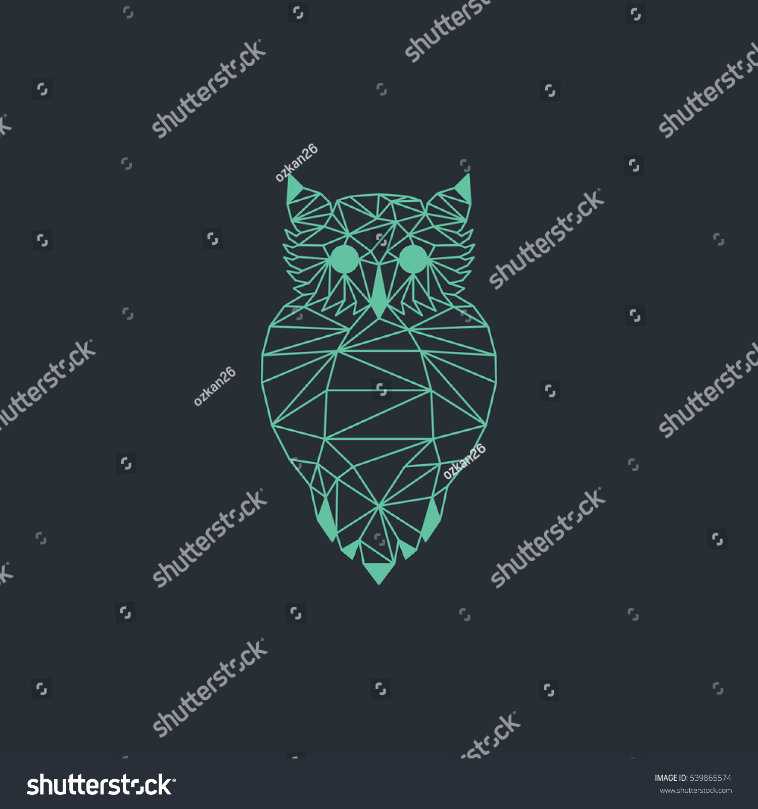 Light Green Origami Owl Vector Design Stock Vector ... - photo#9