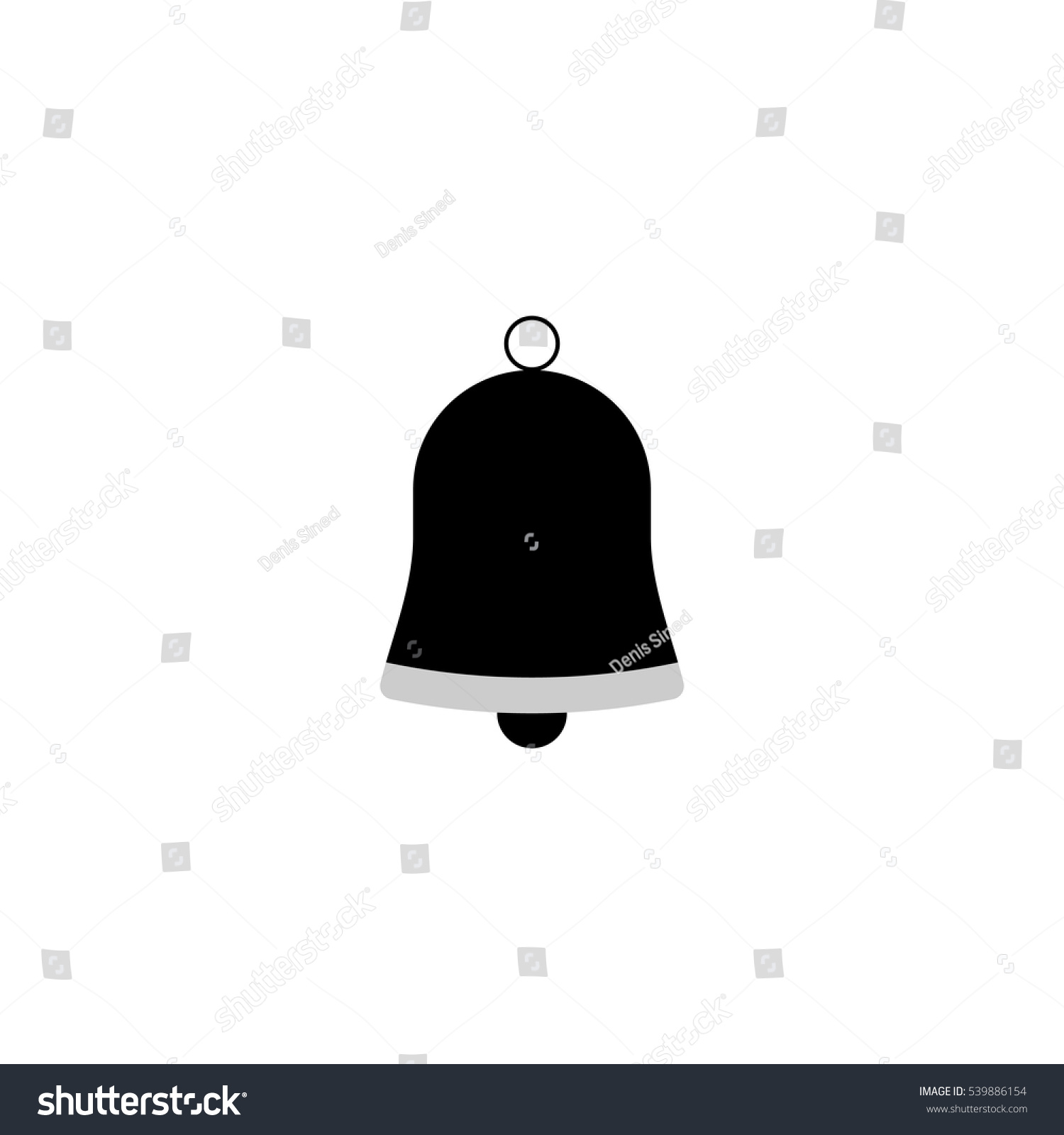 christmas bell icon flat design template stock vector royalty free