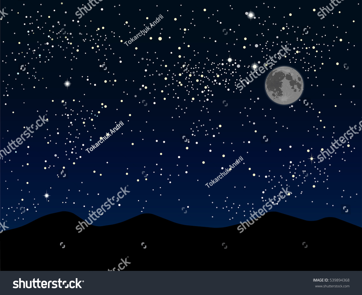 Nature Background Starry Night Sky Stars Stock