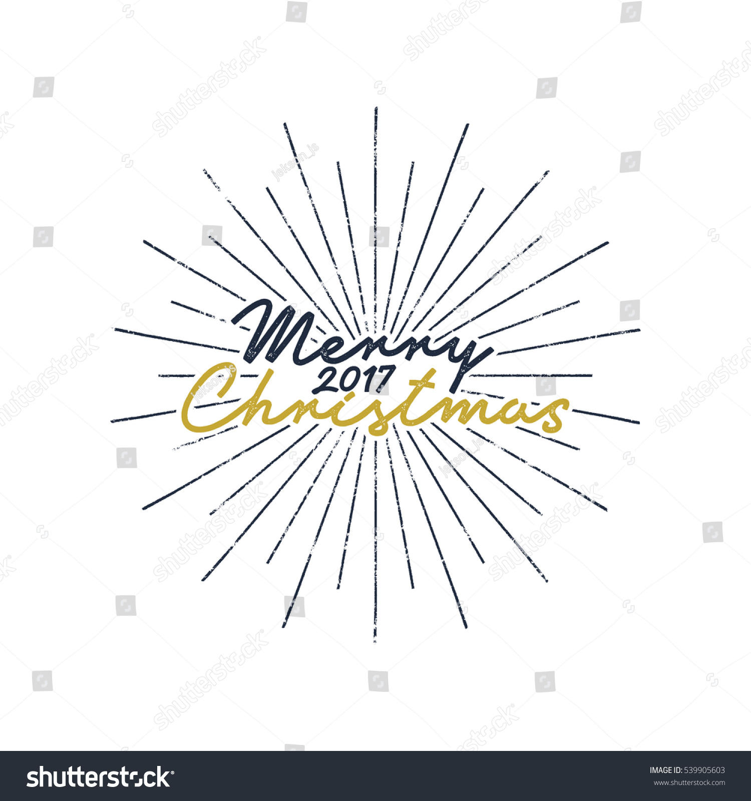 merry christmas and happy new year lettering holiday wish saying and vintage label