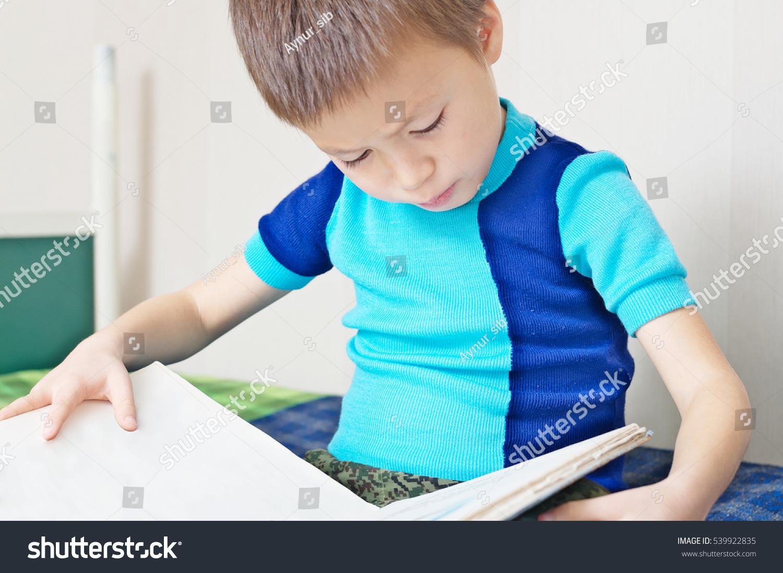 Kid Reading Book On Bed Children Stock Photo 539922835 - Shutterstock