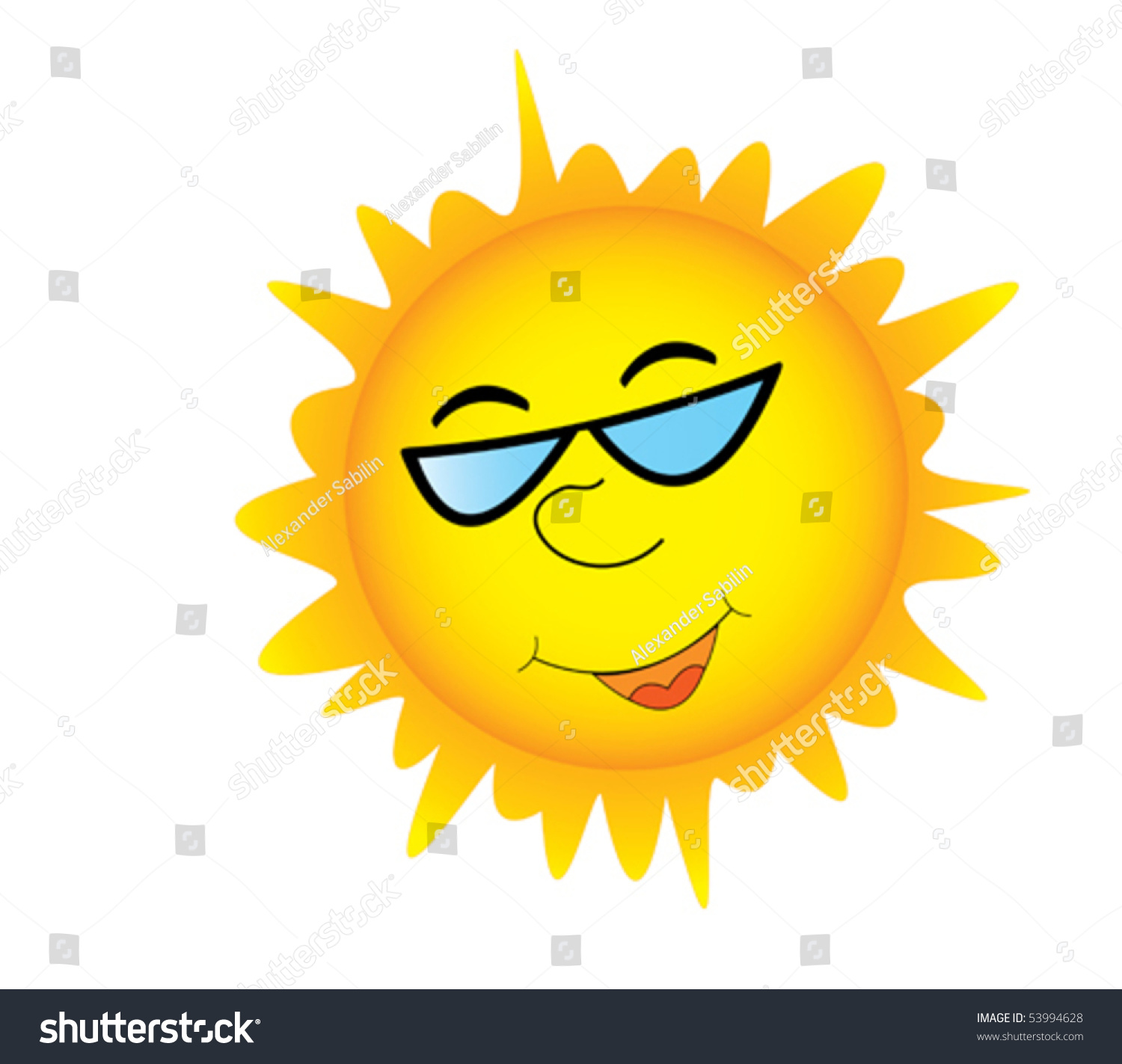 Smiling sun with sunglasses - Smiling Sun In Sunglasses