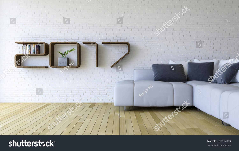 3d rendering image 2017 wooden shelf stock illustration 539954863 shutterstock - The brick sofa sets ...