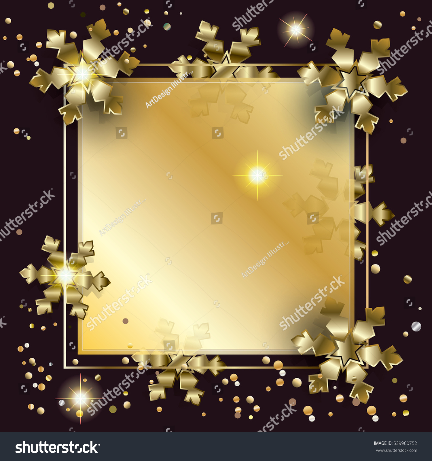 merry christmas and happy new year luxury greeting card background with glitter snowfall sparkle